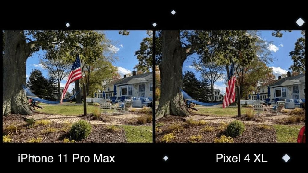 confronto fotografia tra Google Pixel 4 e iPhone 11 Pro Max