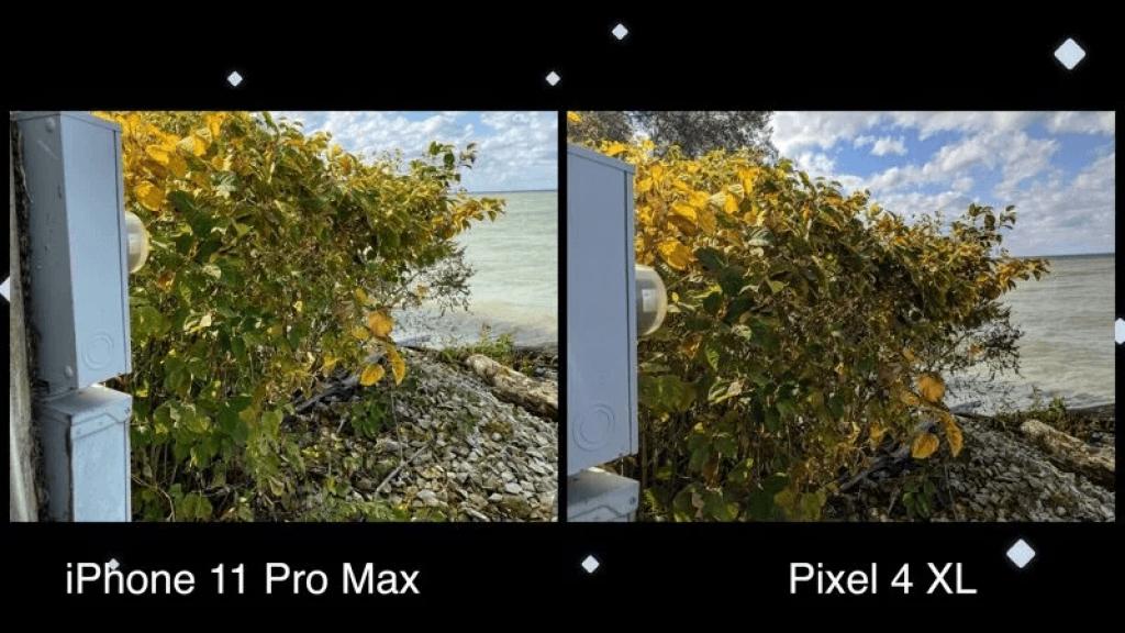 foto a confronto google pixel 4 xl e iphone 11 pro max